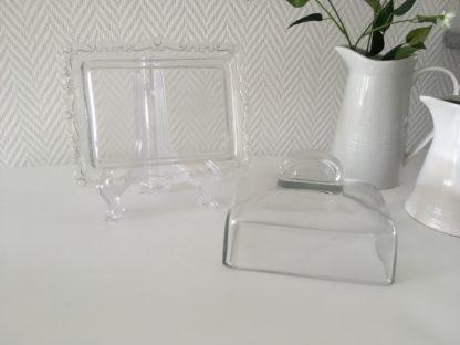 Prachtige Vintage Glazen botervloot