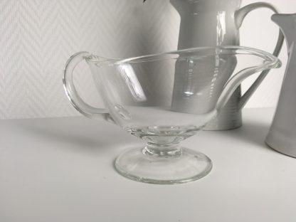 1015 Vintage glazen sauskom