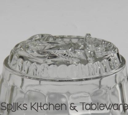 338 Glazen pastei puddingvorm met anker decoratie