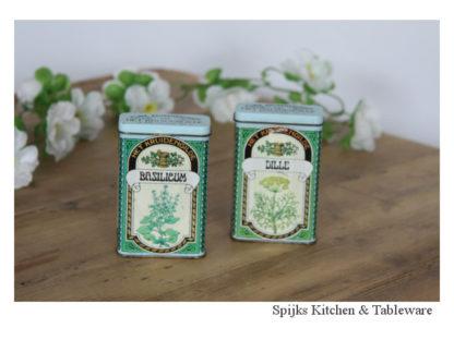 Het kruidengilde Kruiden blikjes dille basilicum | Spijks Vintage Kitchen & Tableware
