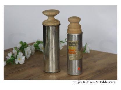 Hout en metalen pasta / deeg vorm persen/spuit set | Spijks Vintage Kitchen & Tableware