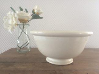 Antiek Petrus Regout Schaal beige | Spijks Vintage Kitchen & Tableware