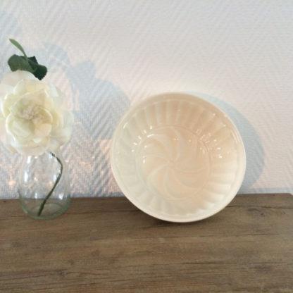 Puddingvorm rond beige ca 1 liter | Spijks Vintage Kitchen Tableware