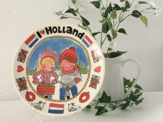 Blond Amsterdam Unox I love Holland Bord