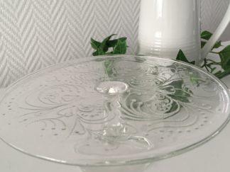 Taart plateau glas sierlijk