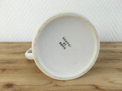 Made in France Roomkannetje wit aardewerk