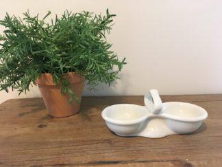 Vintage peper en zout schaaltje
