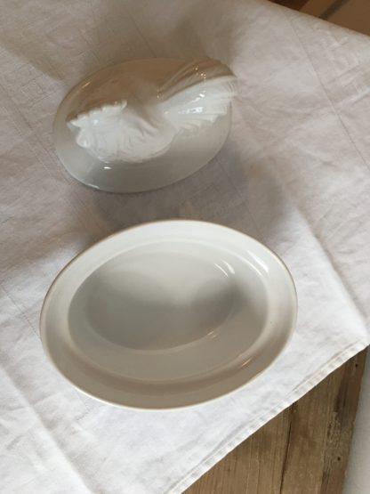 Terrine kip wit aardewerk
