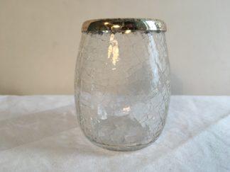 klein vaasje glas craquele