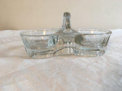 Art Deco peper- en zoutschaaltje Glas