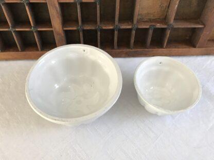 set vintage puddingvormpjes